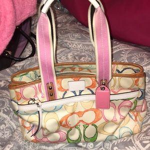 Coach multicolor purse